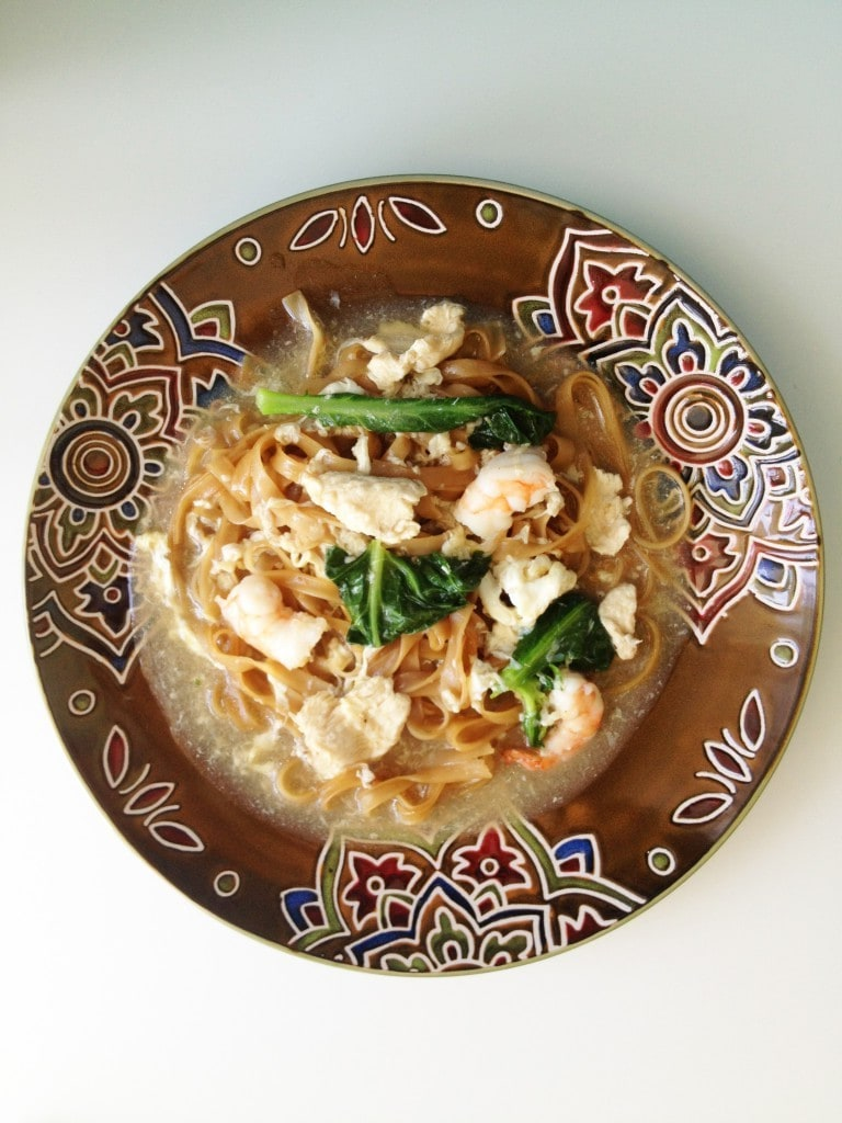 Flat Noodles in Egg Gravy (Wat Tan Hor)