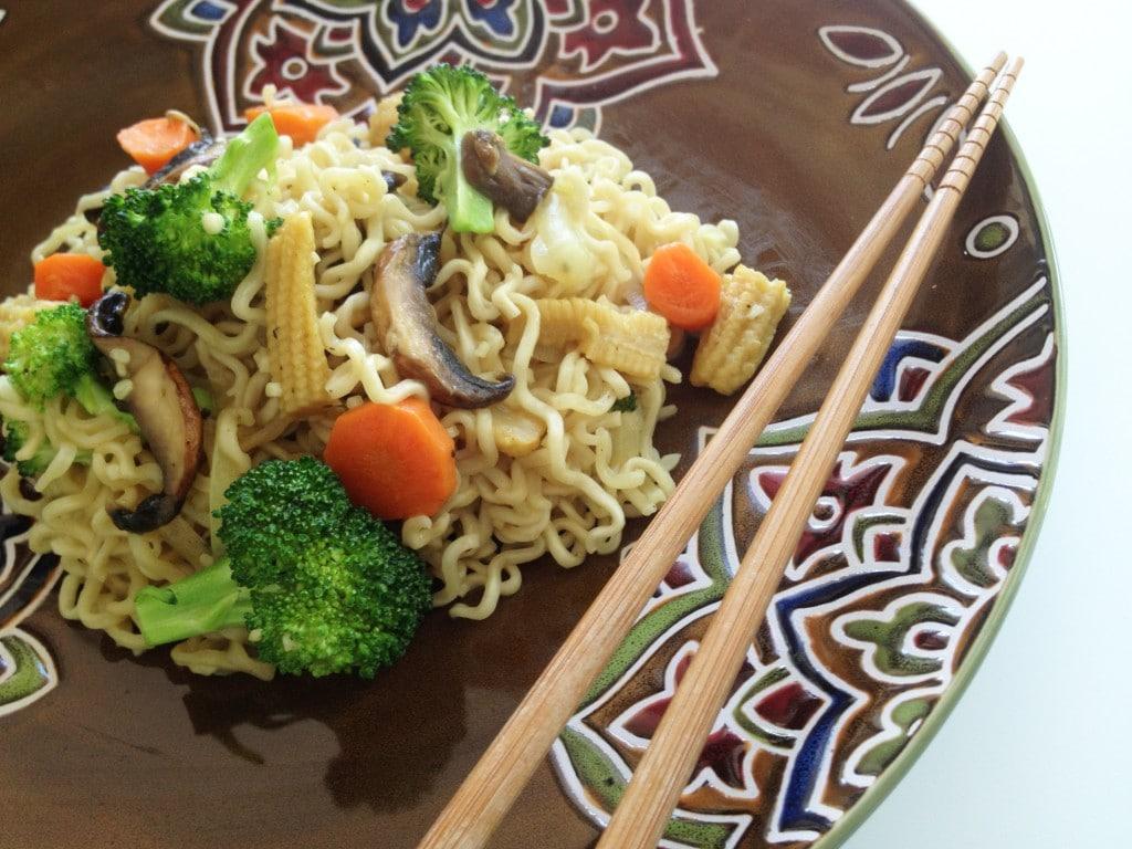Vegetarian Ramen Stir-Fry Noodles