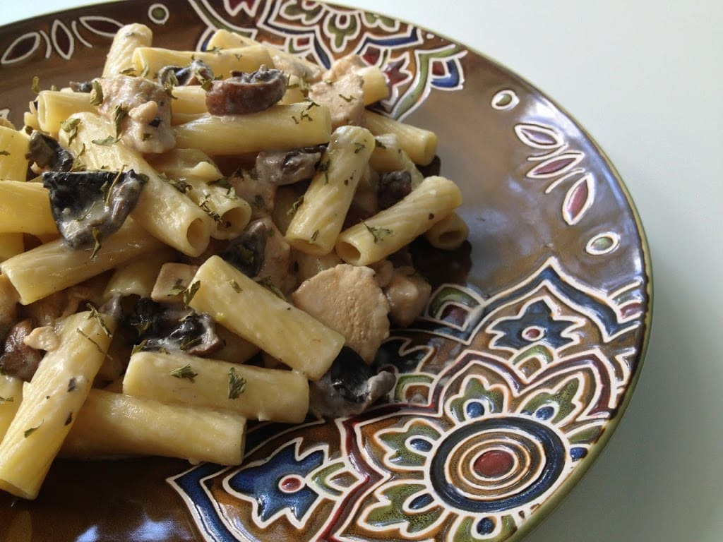 Chicken and Mushroom Rigatoni