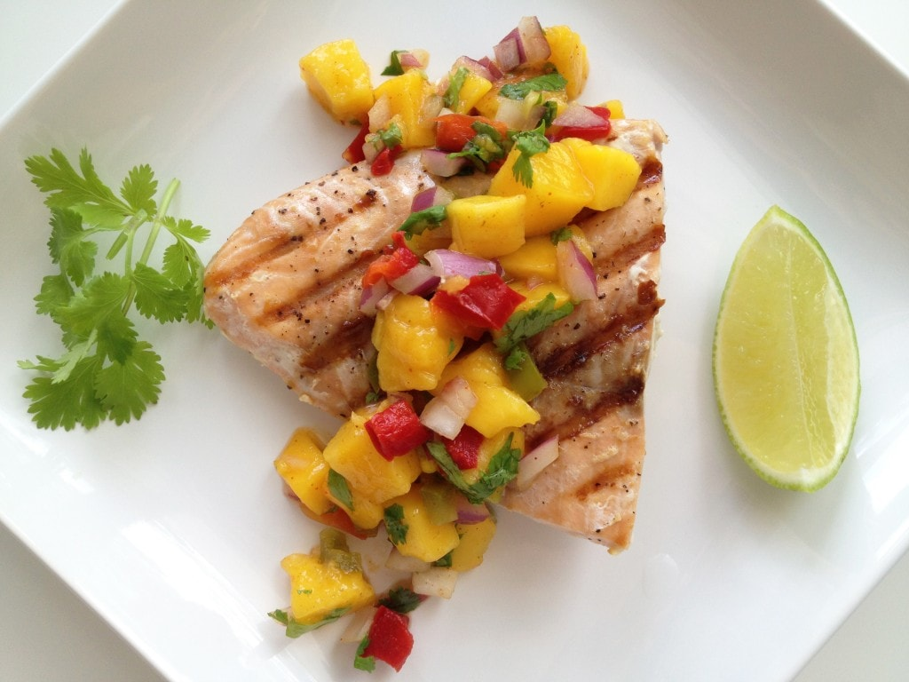 Grilled Salmon with Mango Salsa - The Cooking Jar