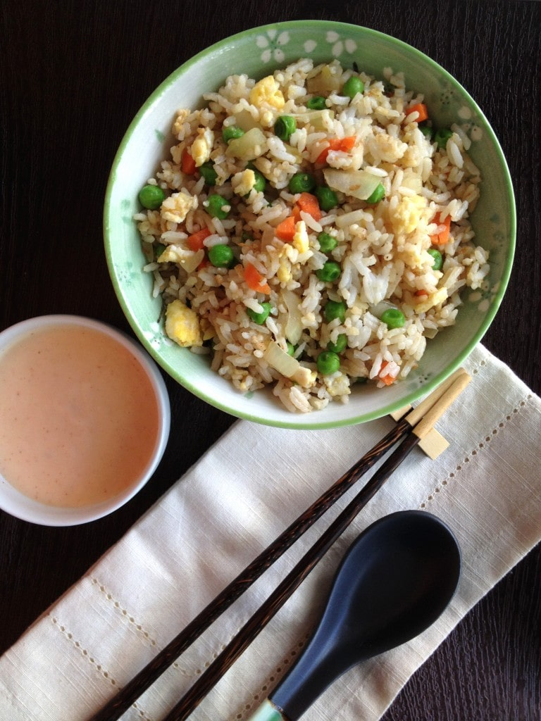 Hibachi style fried rice with yum yum sauce the cooking jar hibachi rice with yum yum sauce ccuart Images