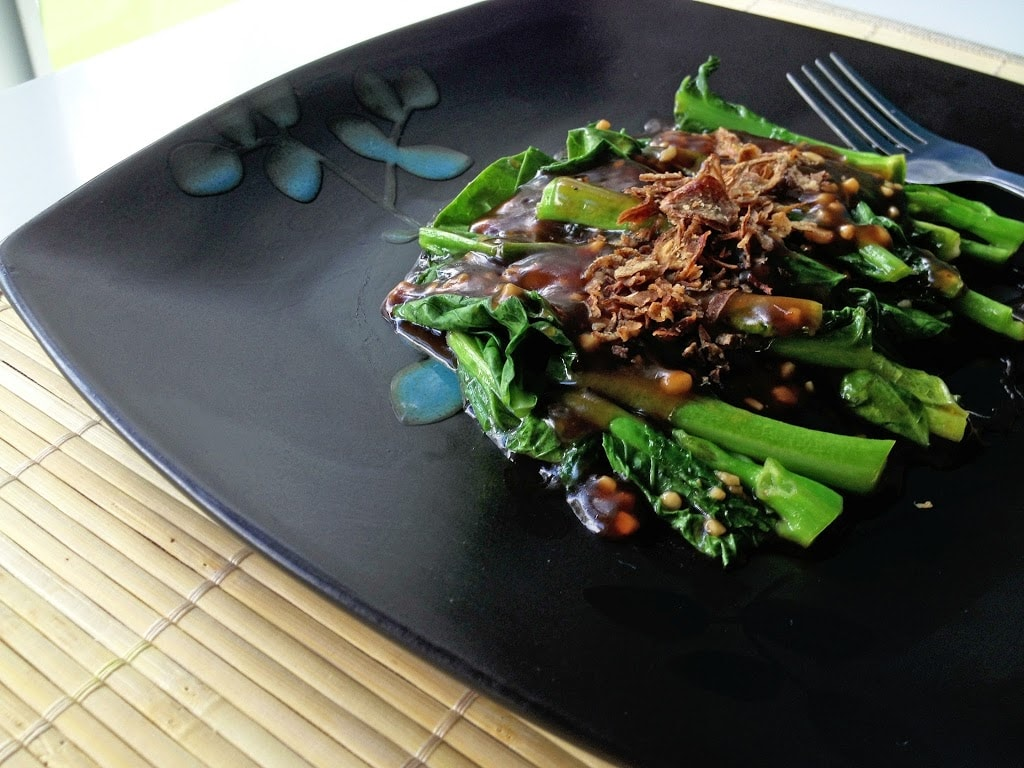 Stir-Fry Greens with Oyster Sauce