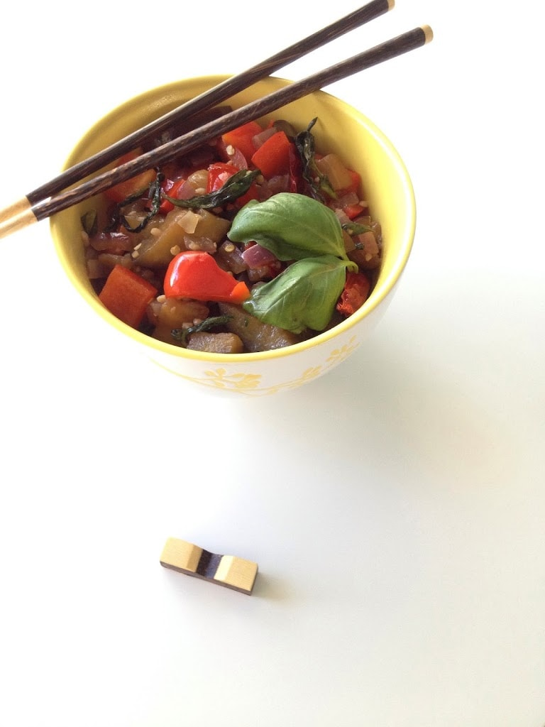 Eggplant and Basil Stir-Fry