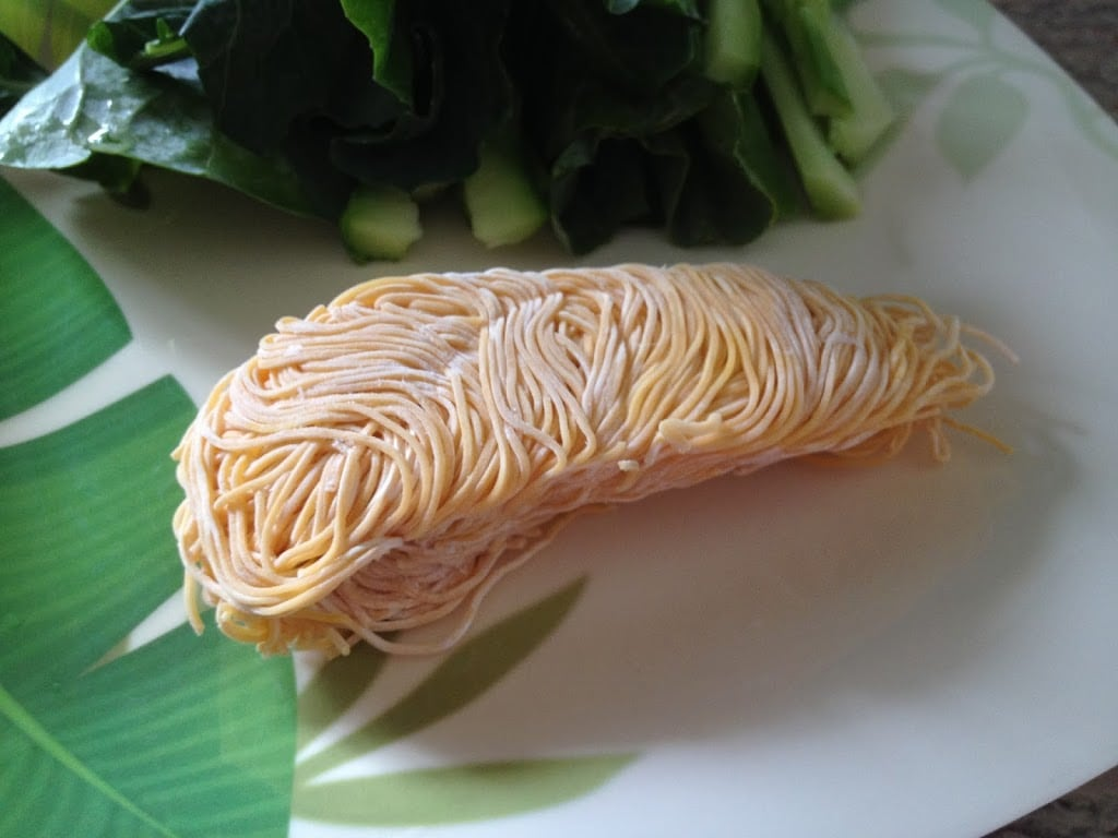 Frozen wonton noodles