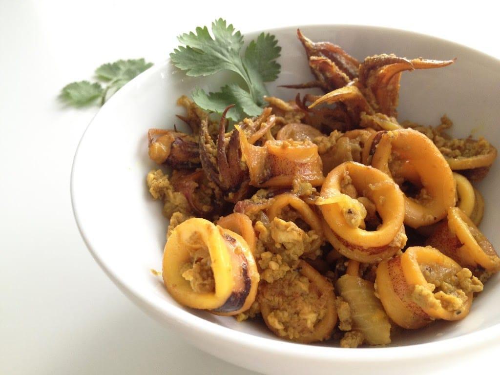 Turmeric Squid Stir-Fry