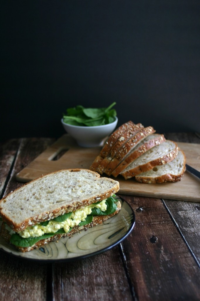 Sloppy Egg Salad Sandwich