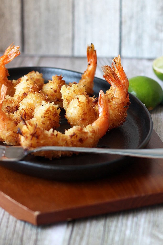 Super crispy and sweet coconut shrimp with a spicy chilled pineapple sauce.