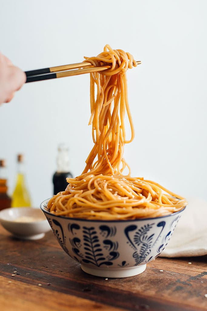 Here's a great way to get Hibachi noodles at home with half the cost. Noodles sauteed in butter, garlic, soy sauce, teriyaki sauce, sugar and sesame oil.