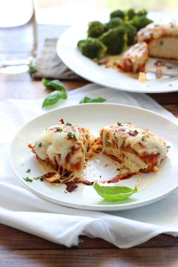 Italian baked chicken is breaded with an Italian breadcrumb mixture and baked till moist. Finish with ricotta cheese, marinara sauce and mozzarella cheese!