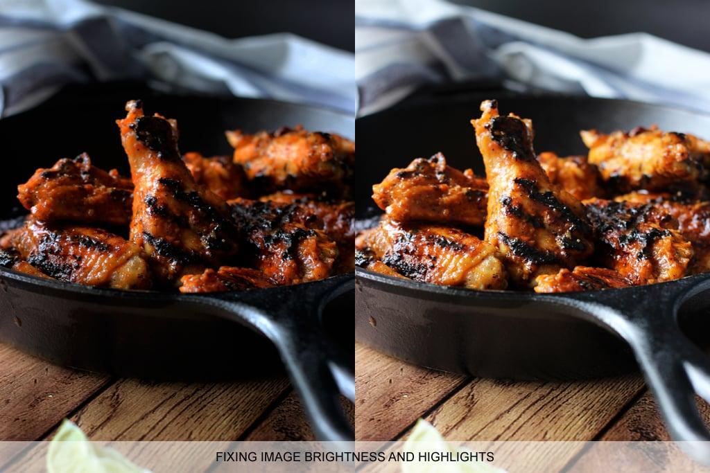 Food photography tips: image manipulation