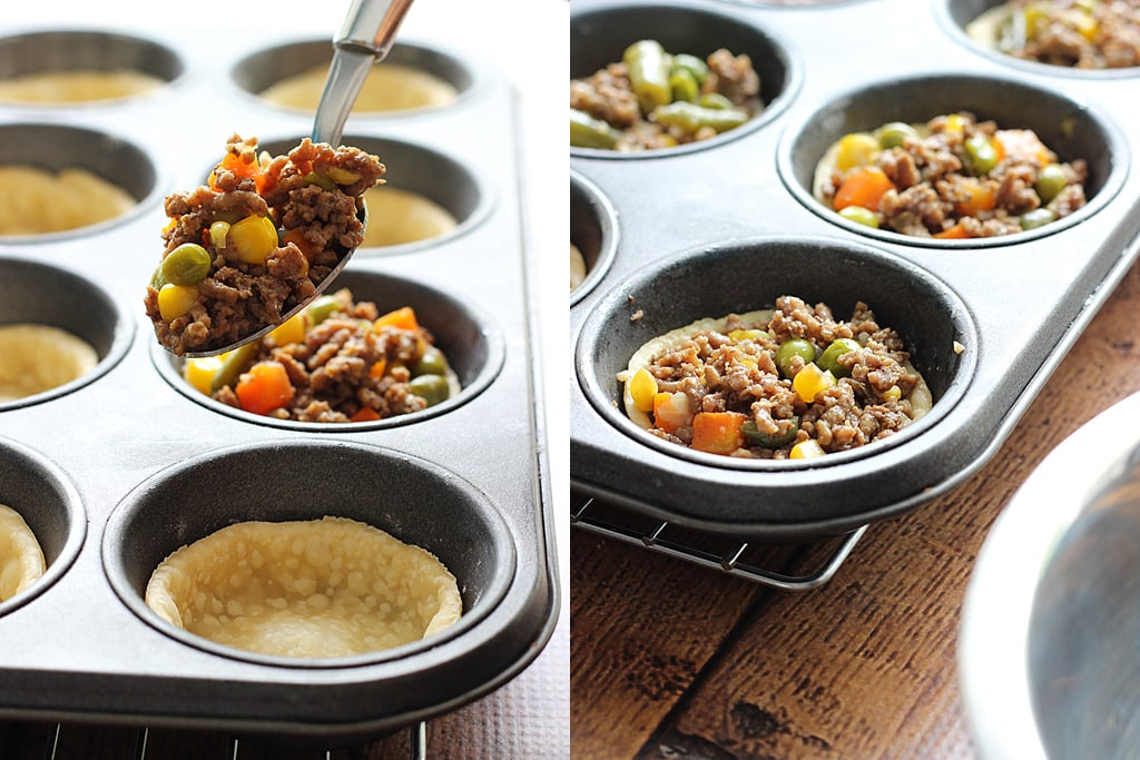 These mini Shepherd's pot pies are a cute and insanely delicious spin on the classic Shepherd's pie with all the goodness of a  flaky, crumbly pie crust.