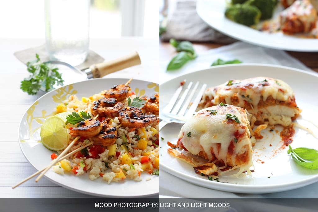 Food photography tips: light moods
