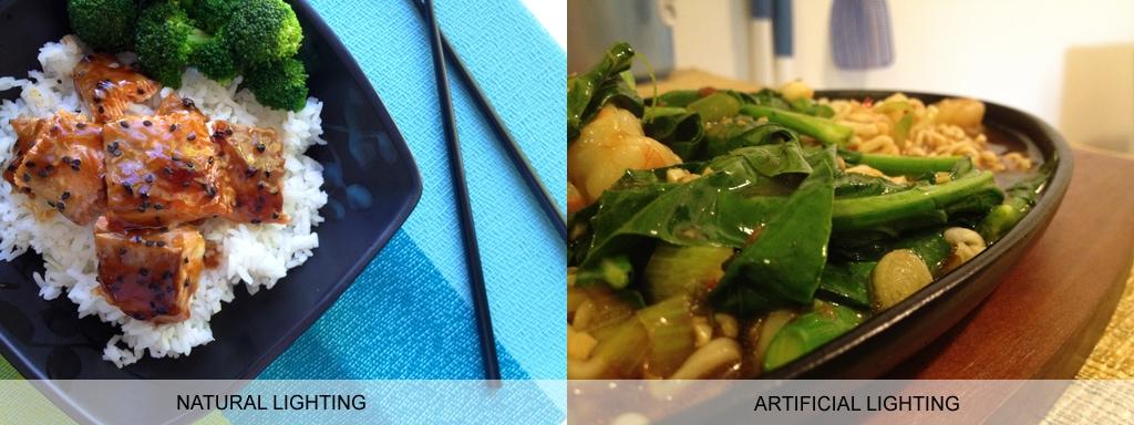 Food photography tips: Natural lighting vs. artificial lighting