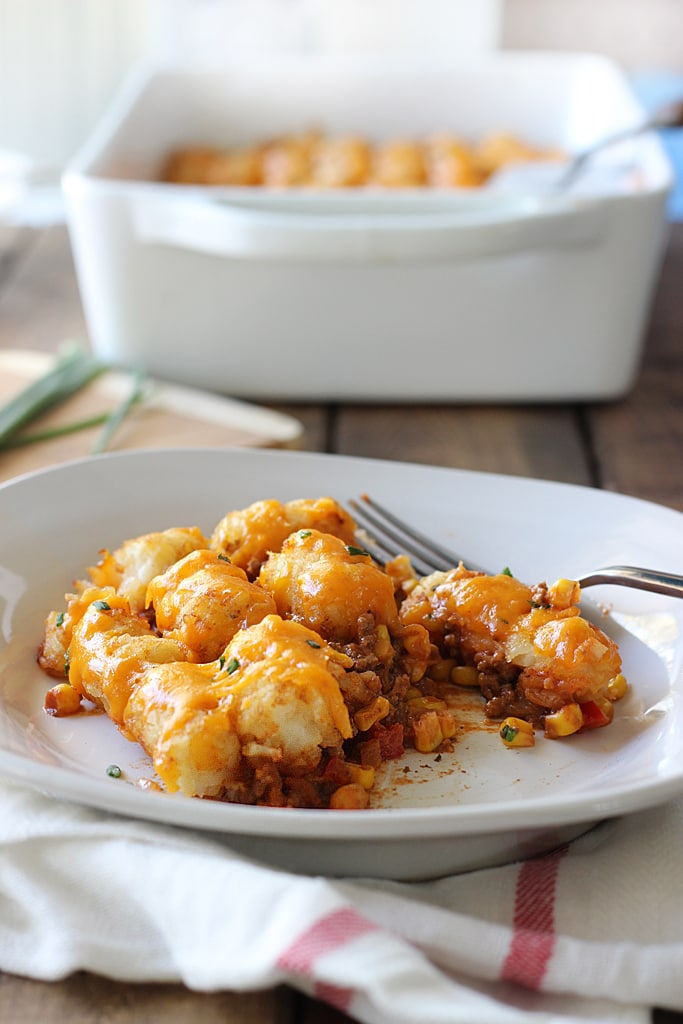 Sloppy Joe Tater Tot Casserole | The First Year