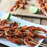 Throw these Sriracha shrimp skewers on the grill for a sweet and tangy Spring kick! Want it with a dip? No problem!