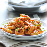 This quick and easy browned butter shrimp skillet has is smoky, sweet and savory with a buttery nutty flavor!