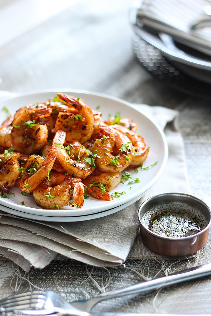 This quick and easy browned butter shrimp skillet is smoky, sweet and savory with a buttery nutty flavor!