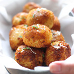 Loaded mashed potato balls so crispy on the outside but soft, fluffy and creamy on the inside. Impress your guests at potlucks, parties and holiday dinners!